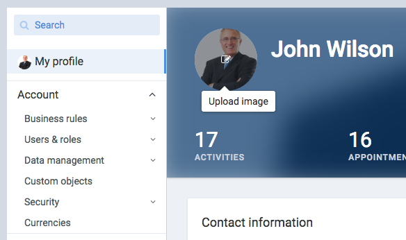 Profile images in Upsales – Upsales Help Center